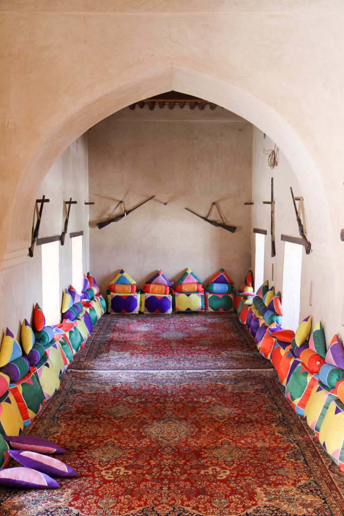 Room in the fort of Nakhal
