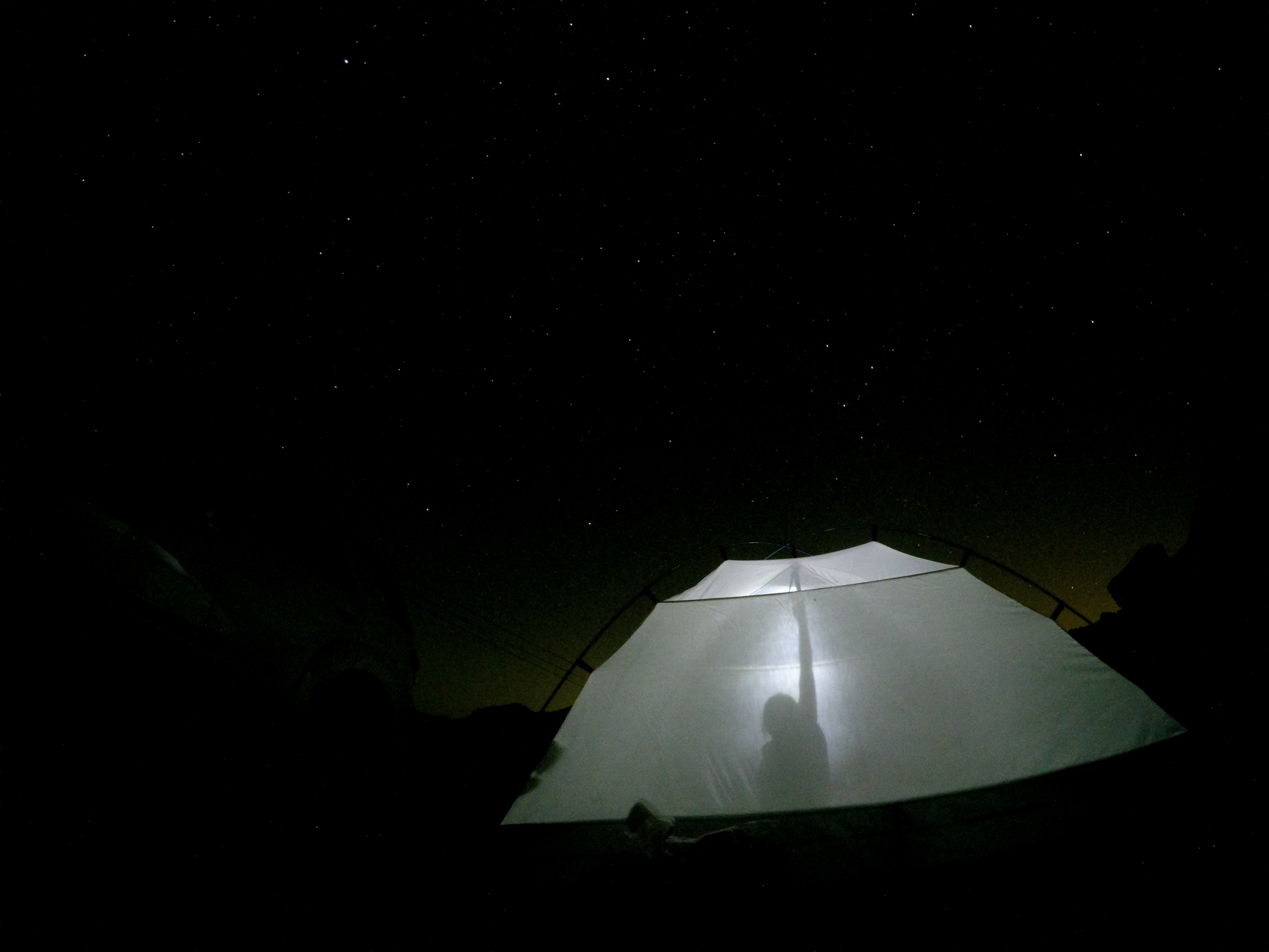 Sleeping below the stars in the middle of nowhere...