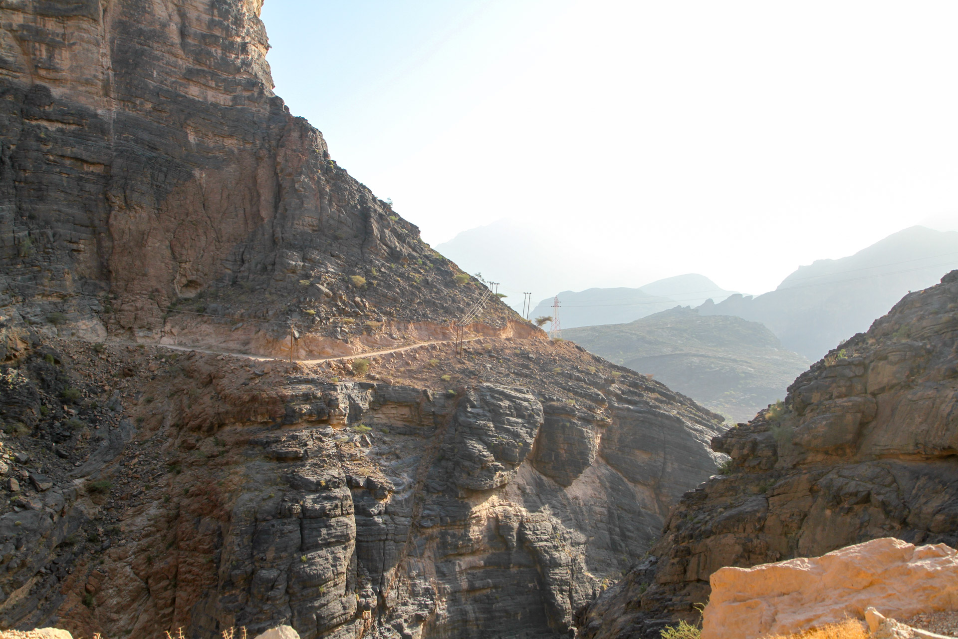 Hajdar Mountain - We came from this road the day before...