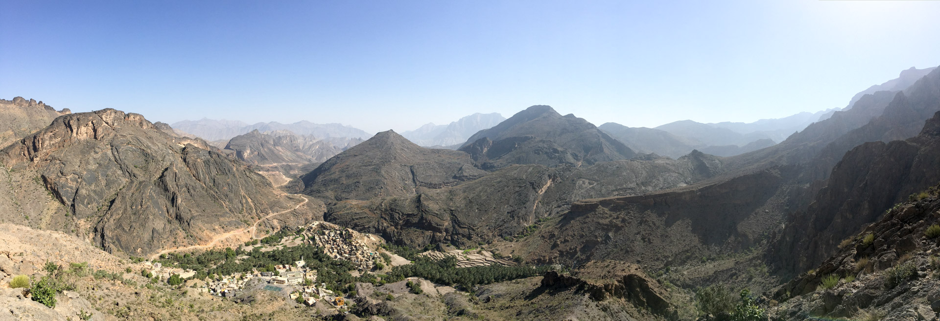 Overlooking Bilad Sayt and into Wadi Bani Awf.