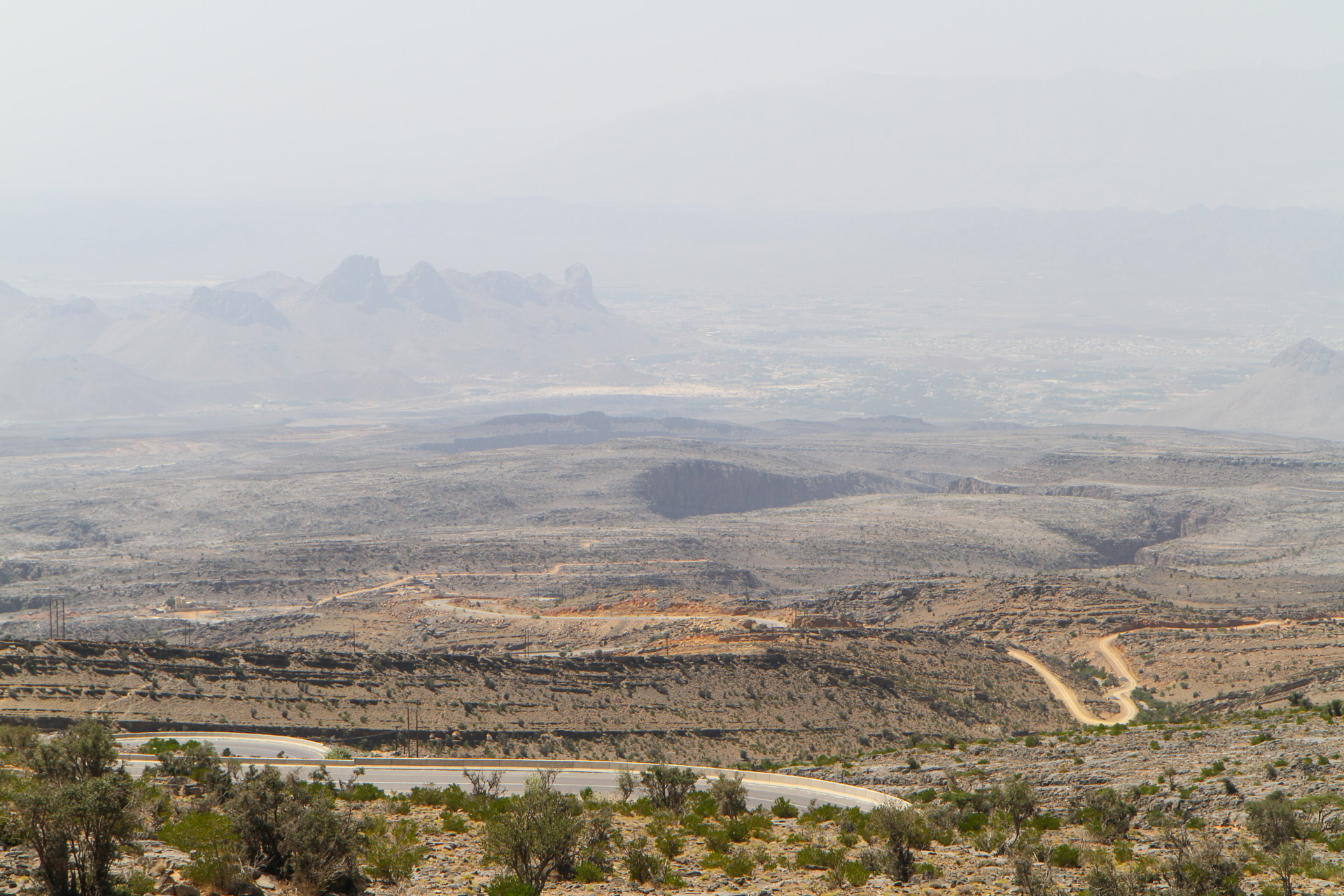 Overlooking the omani backlands.