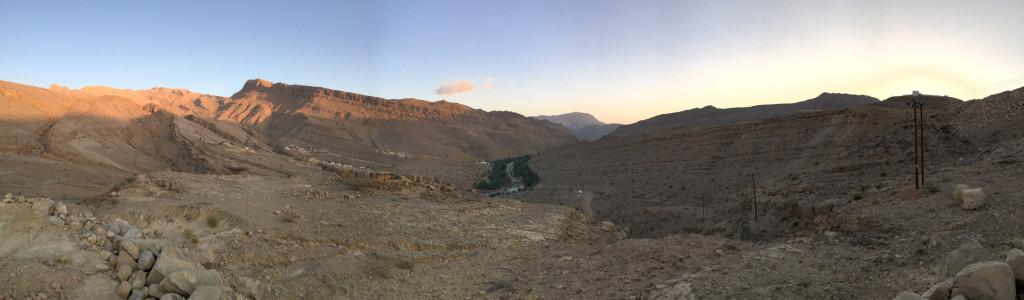 Panorama von Wadi Bani Khalid
