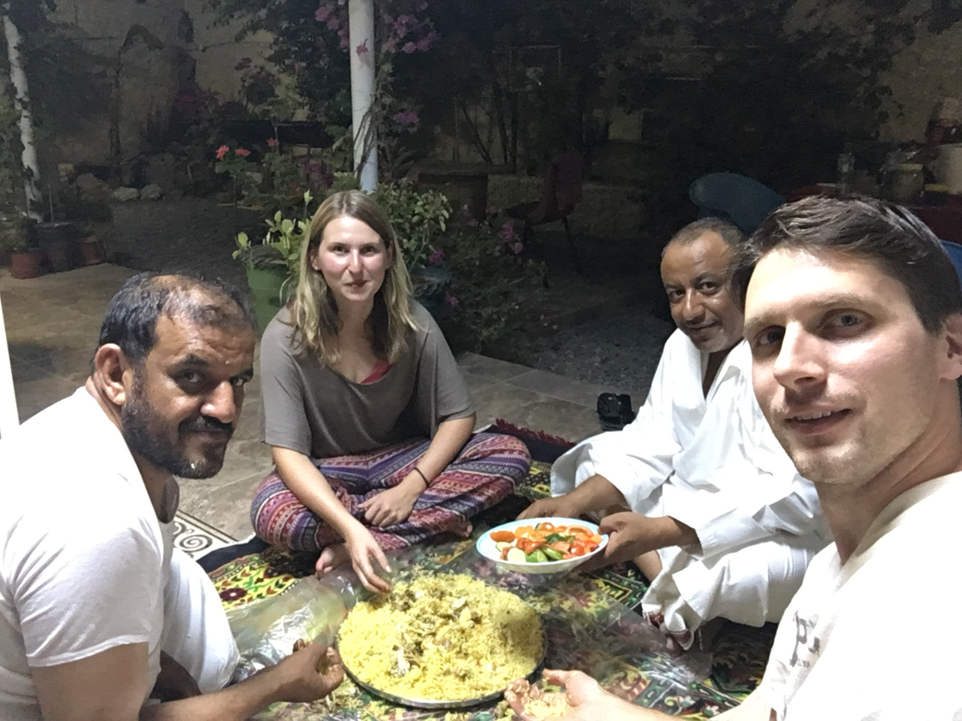 Truly the best experience we could imagine. Original Omani style chicken with rice cooked by Mohammed.