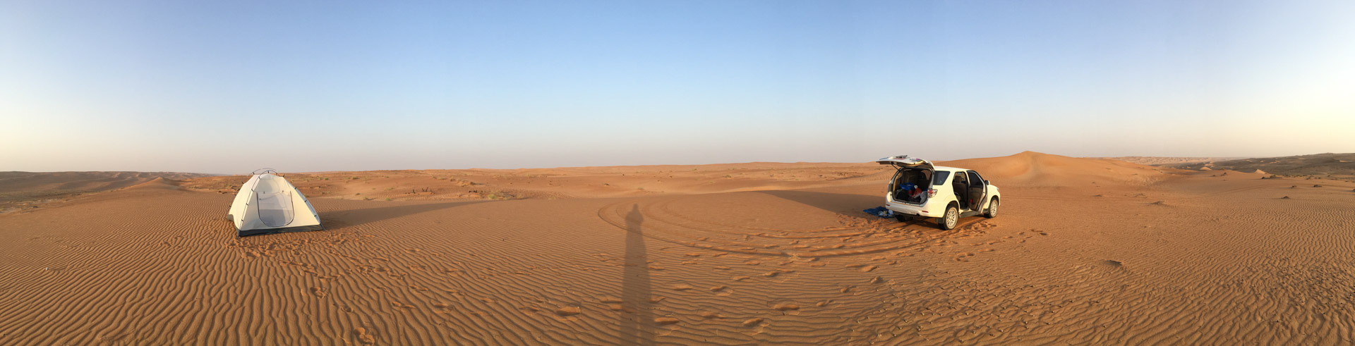 Our Desert Camp - Alone and nobody around - Paradise.