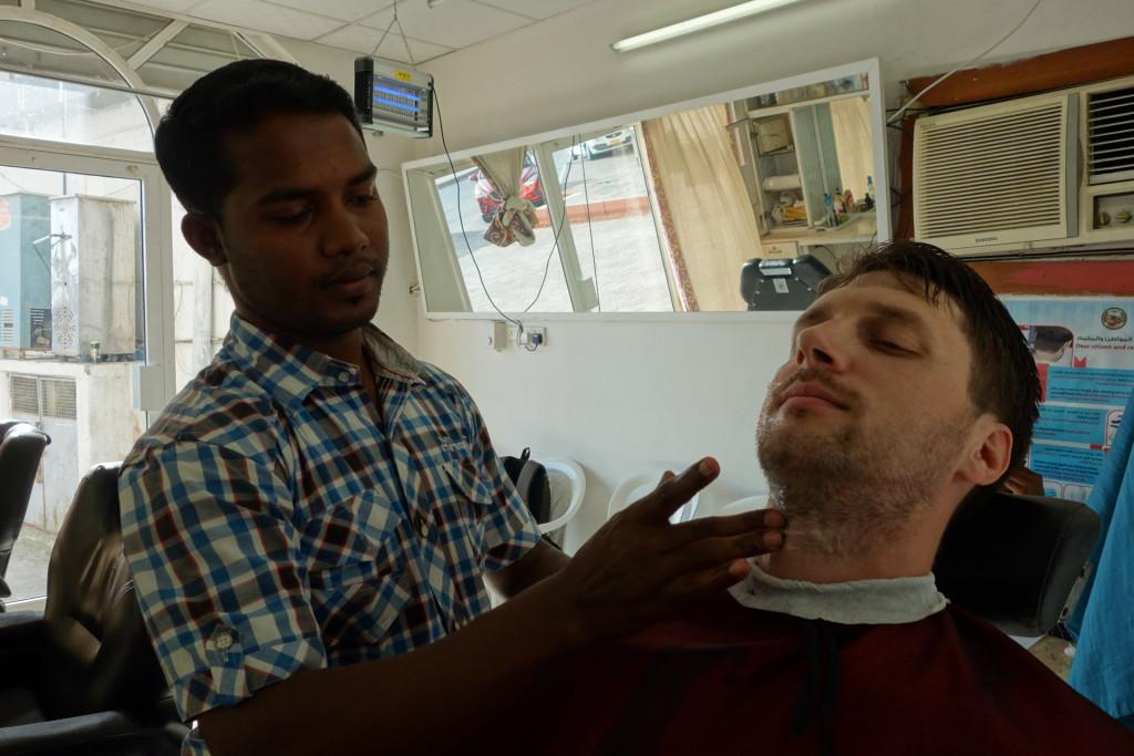 Ich beim Barbier
