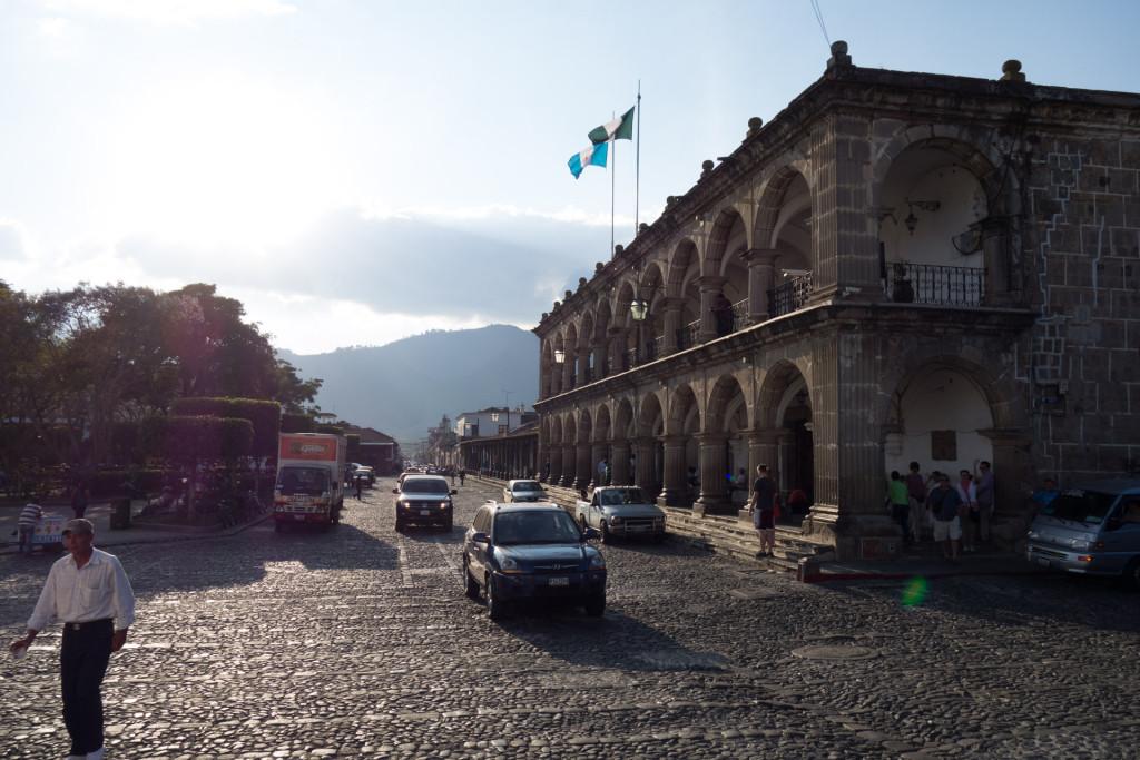 Das Rathaus in Antigua Guatemala